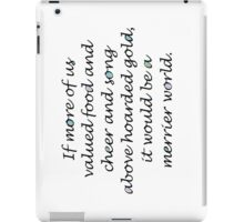 Quote by Thorin Oakenshield iPad Case/Skin