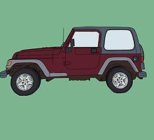 Hand Drawn Jeep Wrangler by itsrturn
