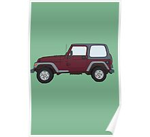 Hand Drawn Jeep Wrangler Poster