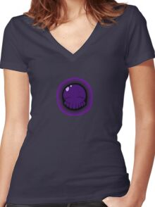 Tako-Chan Relaxin... Women's Fitted V-Neck T-Shirt