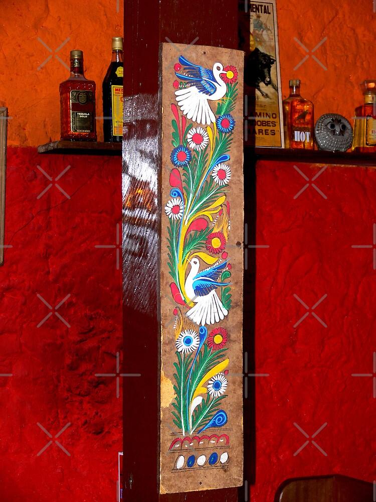 """Las Palomas en La Cantina"" (Doves in the Cantina) by Sandra Chung"
