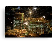 Night Construction Canvas Print