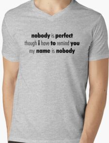 Nobody (Black) Mens V-Neck T-Shirt