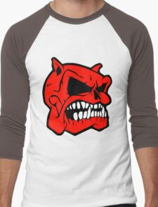 SKULL HEAD-BULL DOG Men's Baseball ¾ T-Shirt