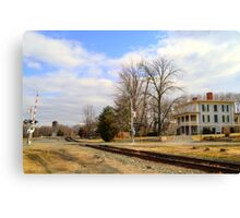 The Exchange Hotel and Railroad Canvas Print