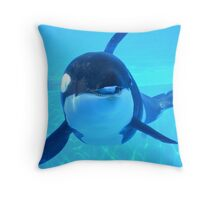Silly Whale Throw Pillow