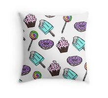 Colorful Confectionery Throw Pillow