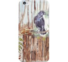 Crow loves the forest iPhone Case/Skin