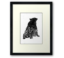 Wild Thing in the Woods Framed Print