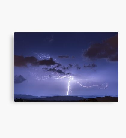 Lightning Strike to Ground Featuring Anvil Crawlers Canvas Print