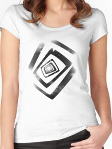 Into the TV (Persona 4) Women's Fitted Scoop T-Shirt