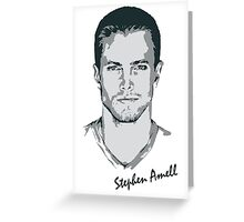 Stephen Amell Greeting Card