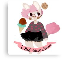 food bunny Canvas Print