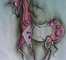 girly pink pony by scaroby