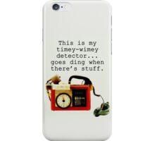 Timey Wimey Detector, Doctor Who iPhone Case/Skin