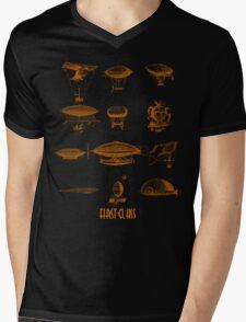 Blimp dirigible airship zeppelin fly green  Mens V-Neck T-Shirt