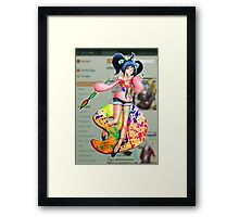 Little Miss DA Framed Print