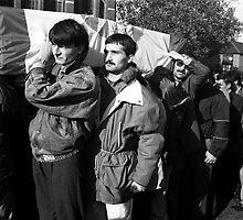 Funeral march of Kurdish Asylum Seeker by newbeltane