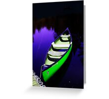 Lone Canoe Greeting Card