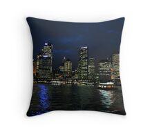 Circular Quay at Night Throw Pillow