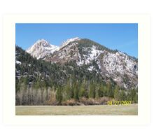 High Sierras Art Print
