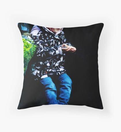 a child  Throw Pillow