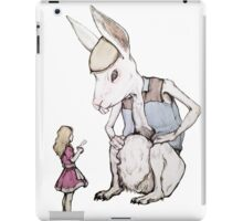 Jefferson Hare and the Child in Pink iPad Case/Skin