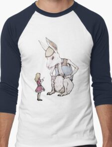 Jefferson Hare and the Child in Pink Men's Baseball ¾ T-Shirt