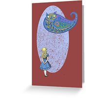 Alice and the Cheshire Paisley Greeting Card