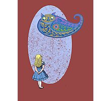 Alice and the Cheshire Paisley Photographic Print