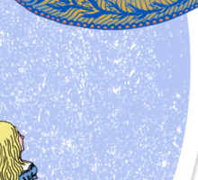 Alice and the Cheshire Paisley Sticker