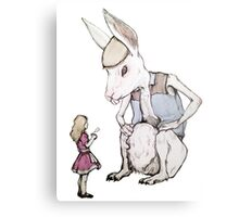 Jefferson Hare and the Child in Pink Metal Print