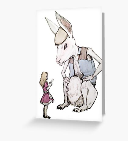 Jefferson Hare and the Child in Pink Greeting Card