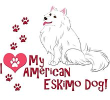 I Love My American Eskimo Dog! by thekohakudragon
