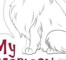 I Love My American Eskimo Dog! Sticker