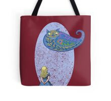 Alice and the Cheshire Paisley Tote Bag