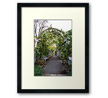 Garden Tunnel Framed Print