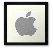 Apple logo in ASCII Art Framed Print