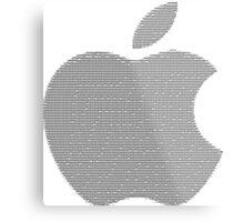 Apple logo in ASCII Art Metal Print