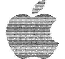 Apple logo in ASCII Art Photographic Print