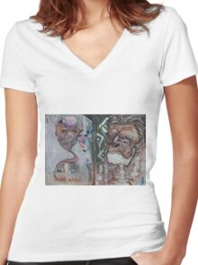 Mayan Odyssey Women's Fitted V-Neck T-Shirt