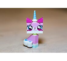 Lego Movie Crying Kitty Photographic Print