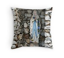 Holy Mary Throw Pillow