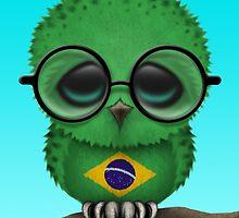 Nerdy Brazilian Baby Owl on a Branch by Jeff Bartels