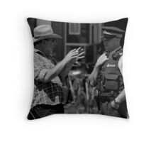 """"""" She got mad when I didn't open the car door...................I just swam to the surface!"""" Throw Pillow"""