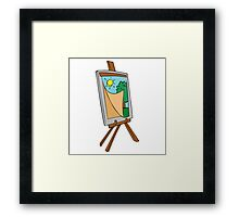 Cartoon Painting Easel Framed Print