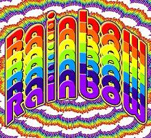 Beautiful Cushions/Pattern /Rainbow  by ozcushionstoo