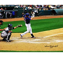 Michael Young, Texas Rangers Photographic Print