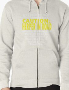 CAUTION: Herper Zipped Hoodie