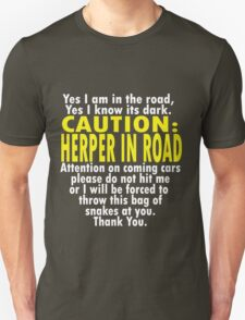 CAUTION: Herper Unisex T-Shirt